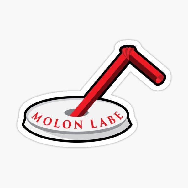Molon Labe Straw Sticker
