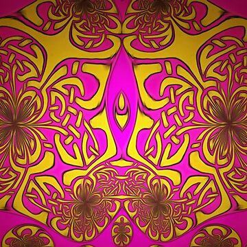 A Celtic knot design in purple and gold by ZipaC