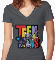 Teen Titans Women's Fitted V-Neck T-Shirt