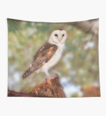 Chips the Barn Owl, Native Animal Rescue Wall Tapestry