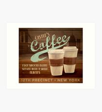 Castle's Coffee Art Print