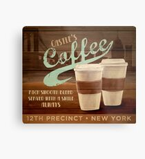 Castle's Coffee Metal Print