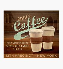 Castle's Coffee Photographic Print