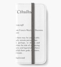 Call of Cthulu by HP Lovecraft first page iPhone Wallet/Case/Skin