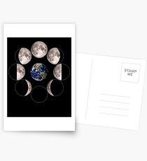 Mondphasen Astronomie Postkarten