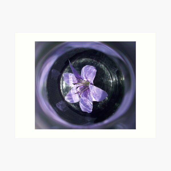 Bottled Flower Art Print