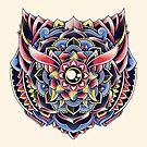 Cat Mandala by GODZILLARGE