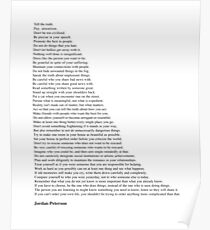 Jordan Peterson Quotes Poster