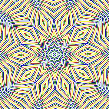Kaleidoscope Colourful Stripes by MarkUK97