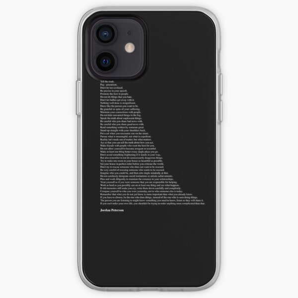 Quotes by Jordan Peterson iPhone Soft Case
