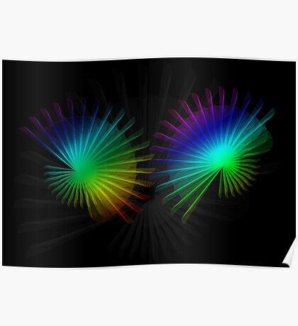 Rainbow Fan Poster
