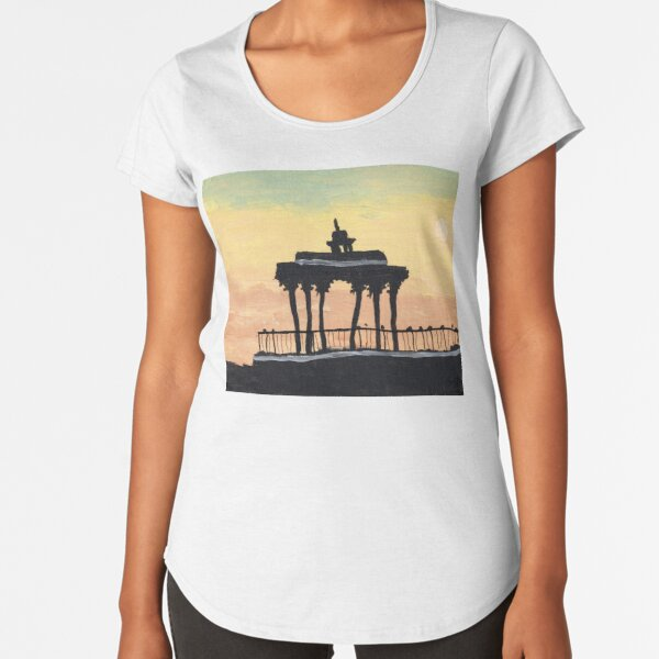 Brighton's Bandstand at Sunset Premium Scoop T-Shirt