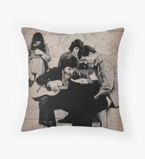 Paris Folksingers, 1977 Throw Pillow