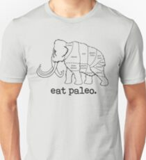 Woolly Mammoth Eat Paleo Butcher Cut Black T-Shirt