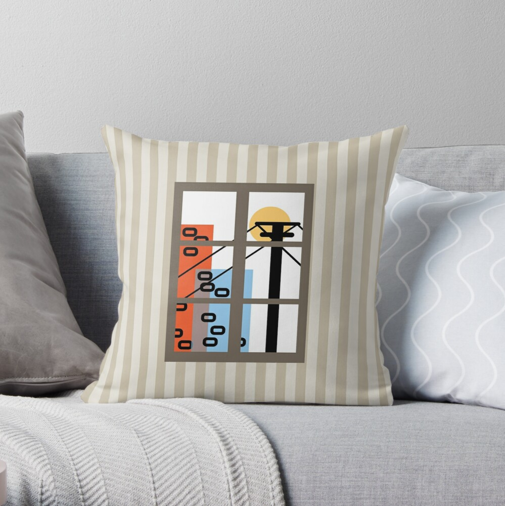 Wide Window Throw Pillow