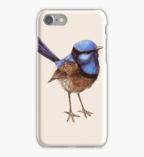 Proud Little Wren, Russet, Blue and Creme iPhone Case/Skin
