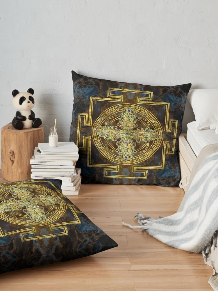 Alternate view of Double Dorje - Vishvavajra  -Vajra Floor Pillow