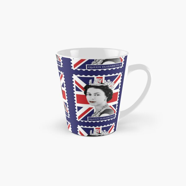 Queen Elizabeth II & Union Jack Tall Mug