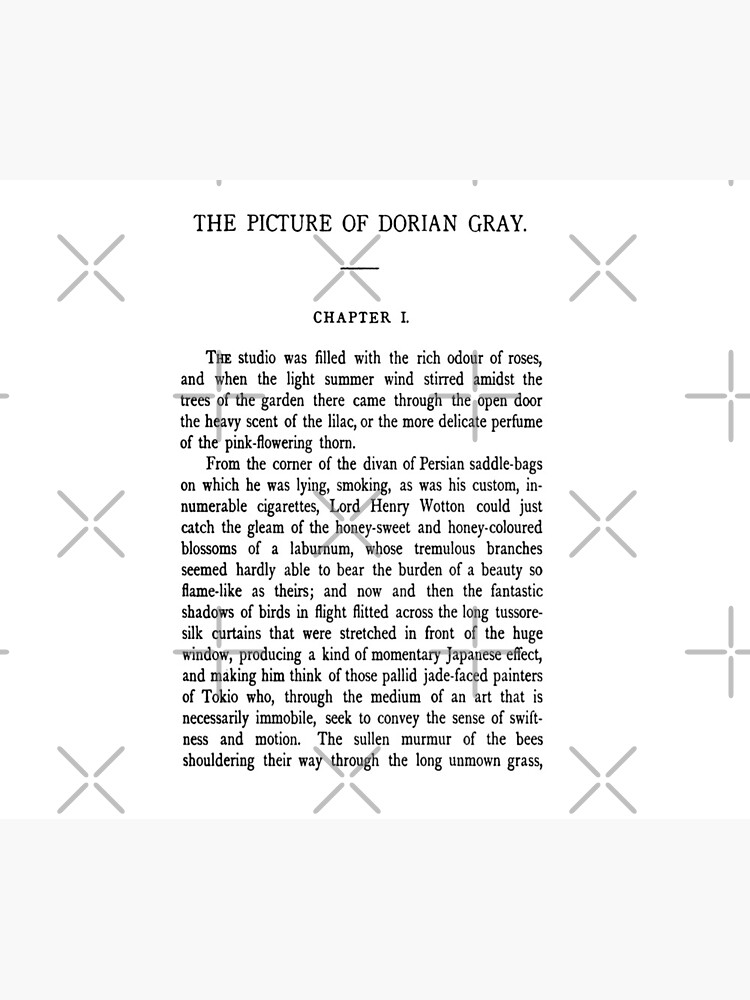 The Picture of Dorian Gray by Oscar Wilde first page by buythebook86
