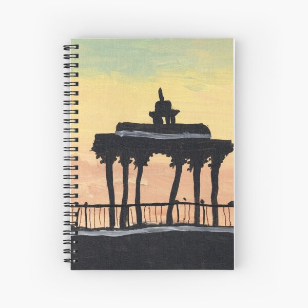 Brighton's Bandstand at Sunset Spiral Notebook