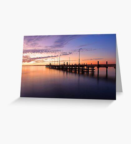 Esplanade Jetty At Dusk  Greeting Card