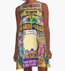 Mardi Gras Carnival Poster A-Line Dress