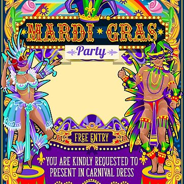 Mardi Gras Carnival Poster by aurielaki