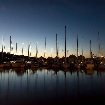 Marina at dusk by earballvisions