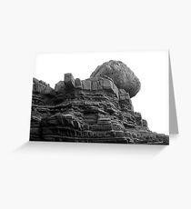 EDGE OF EARTH Greeting Card