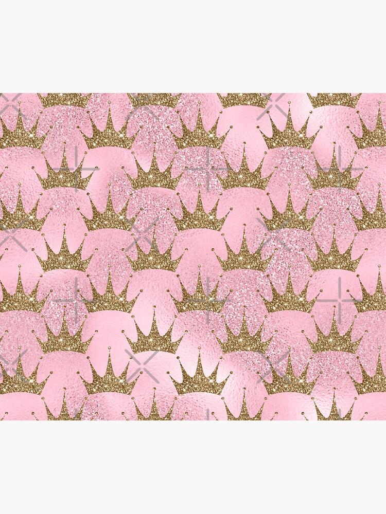 Mermaid Unicorn Pink Glitter Gold Crown Oriental by thespottydogg