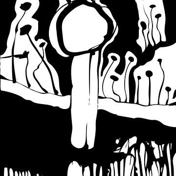 Graphic Mushroom Forest by zeljkica