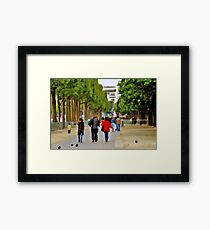 Stroll on the Champs Elysees Framed Print