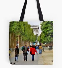 Stroll on the Champs Elysees Tote Bag