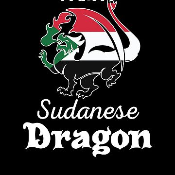 Dragon Sudanese Flag Sudan  by countryflags