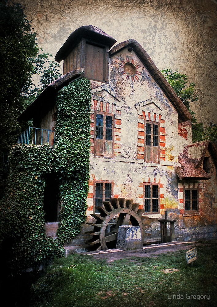 The Watermill at Marie Antoinette's Petit Trianon by Linda Gregory