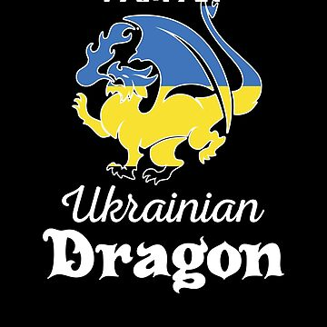 Dragon Ukrainian Flag Ukraine  by countryflags