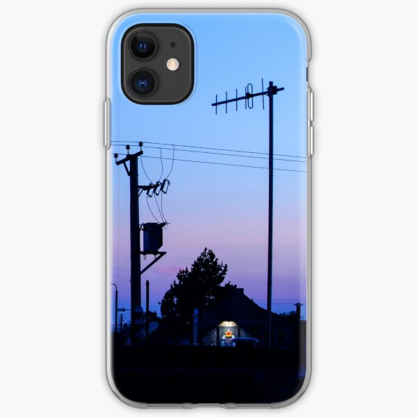 Sunset Power Lines iPhone Soft Case