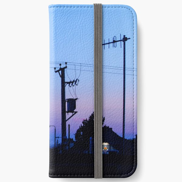Sunset Power Lines iPhone Wallet