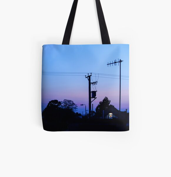 Sunset Power Lines All Over Print Tote Bag