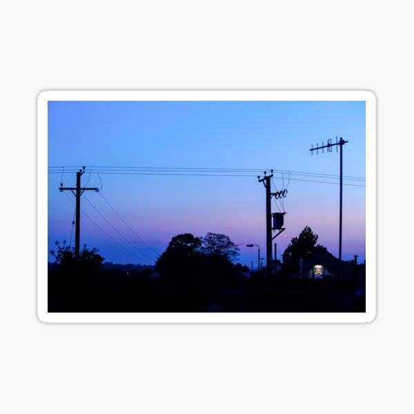 Sunset Power Lines Sticker