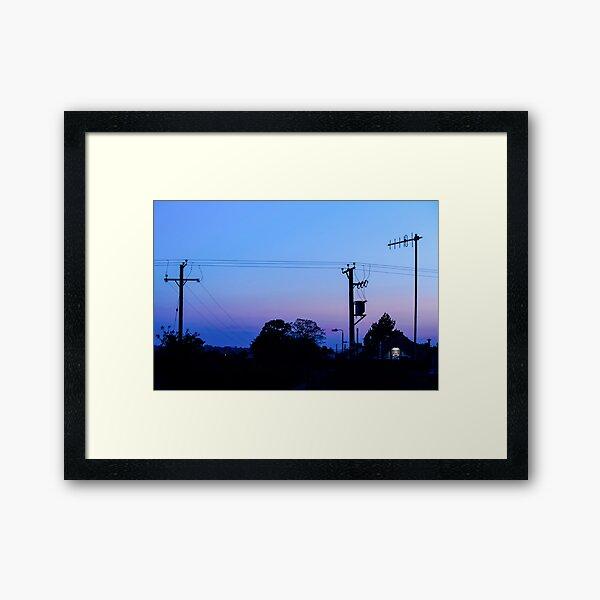 Sunset Power Lines Framed Art Print