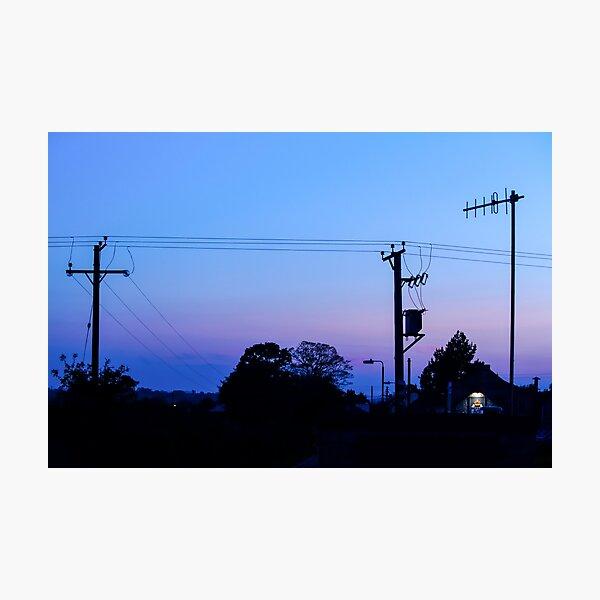 Sunset Power Lines Photographic Print