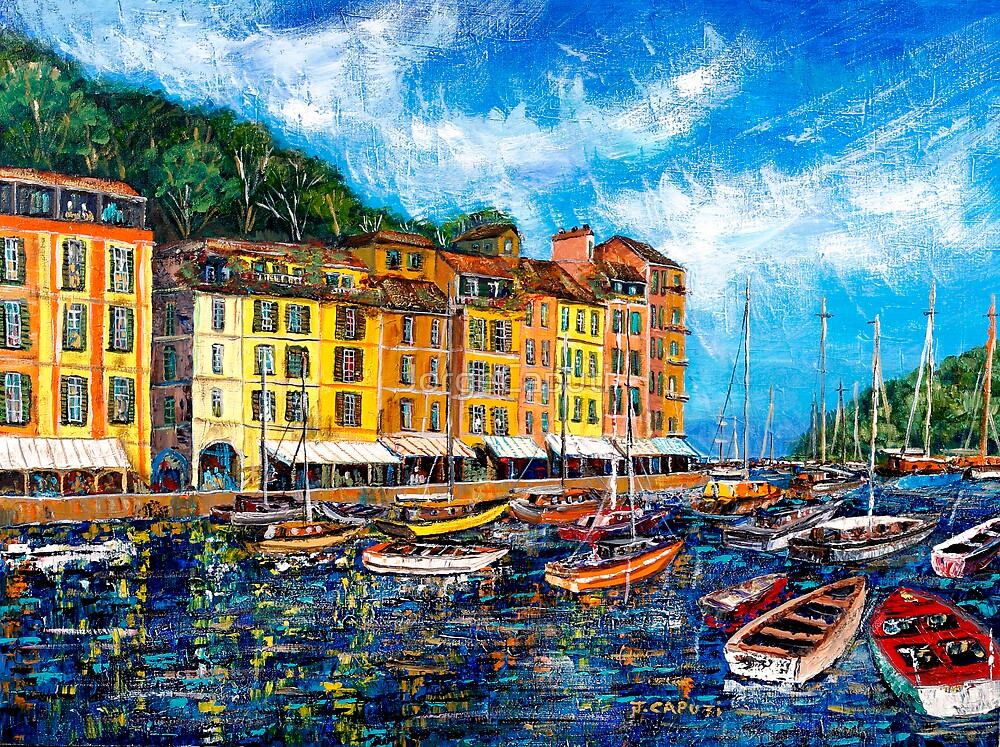 Boats in Portofino by JorgeCaputi
