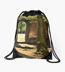 Out in to the life Drawstring Bag