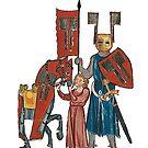 Medieval Portrait of Wolfram von Eschenbach c 1190 by edsimoneit