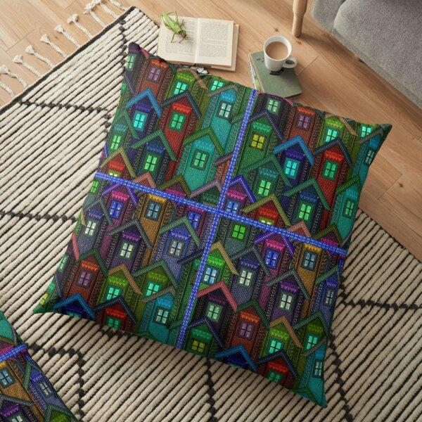 Blue Jeans Housing Compound (2) Floor Pillow