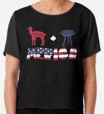 Alpaca plus Barbeque Merica American Flag Blusa