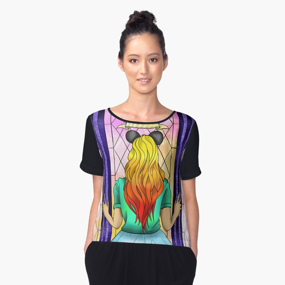 Never stop dreaming Women's Chiffon Top Front