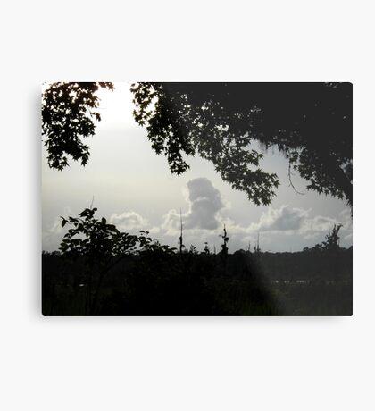 Sunset in Monochrome Metal Print