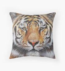 Faces of the Wild - Amur Tiger Throw Pillow